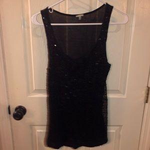 Black tank black sequins Charlotte Russe - LARGE